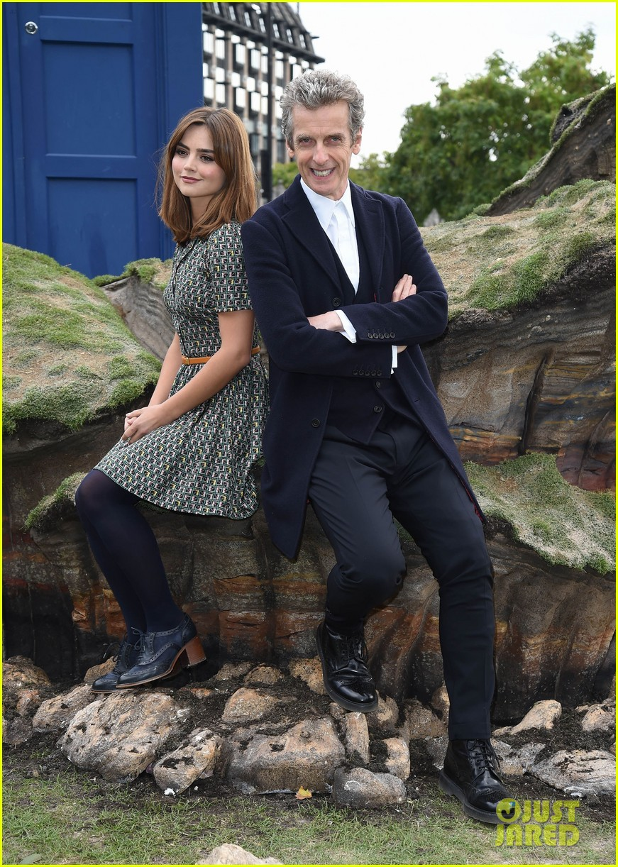 jenna coleman peter capaldi bbc itv photo call london 013180952