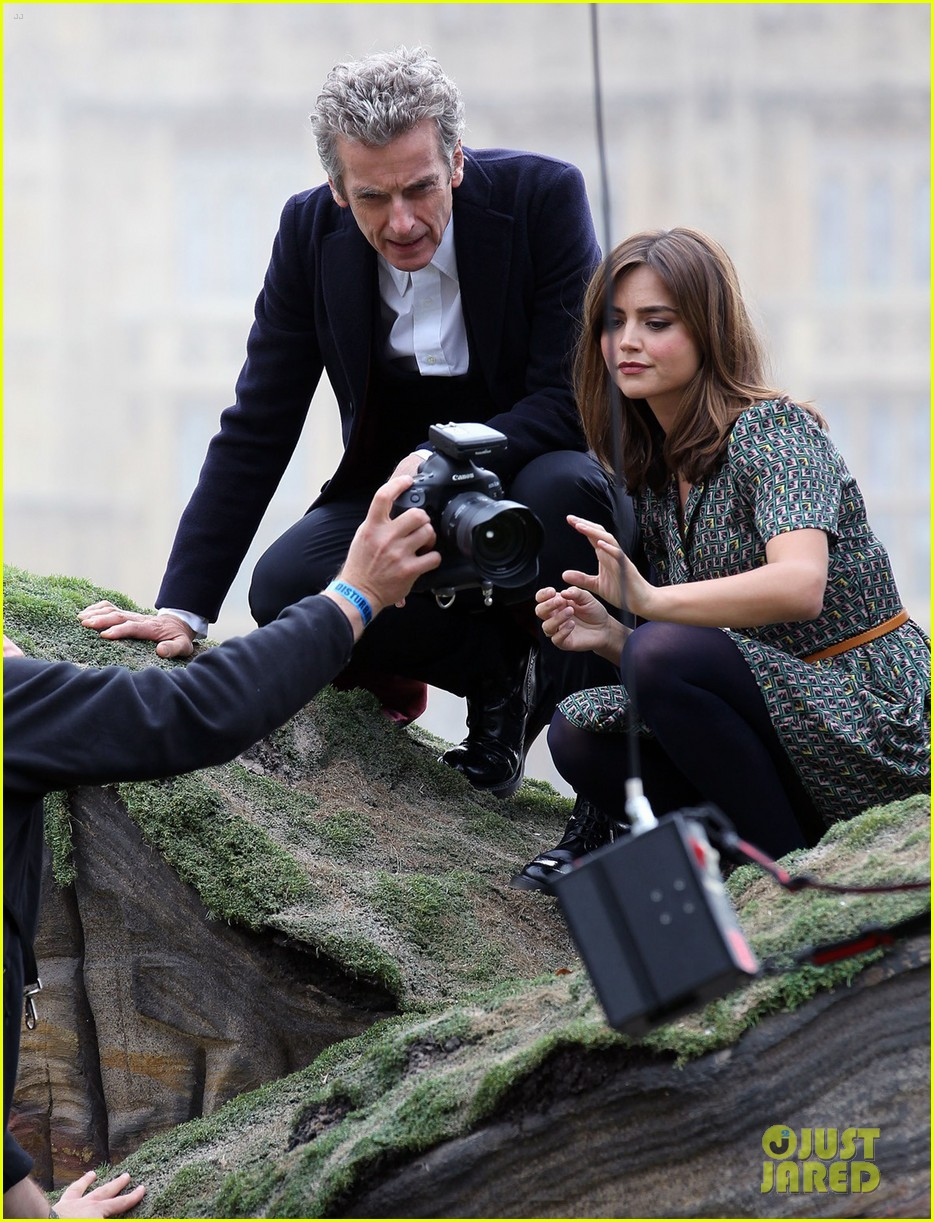jenna coleman peter capaldi bbc itv photo call london 15