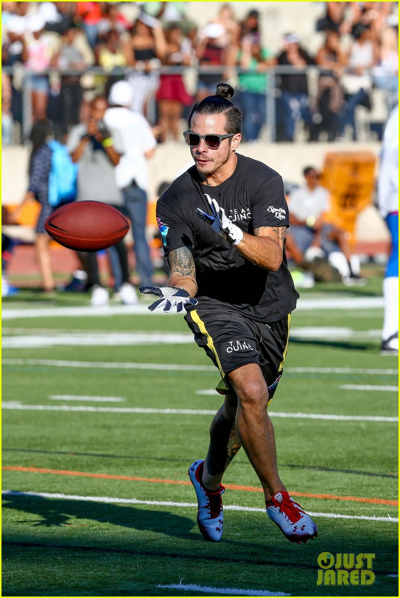 chris brown karrueche tran celebrity flag football game 11