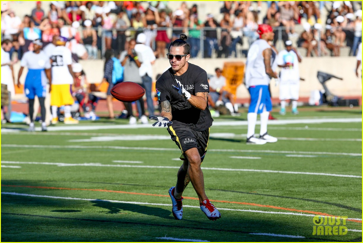 chris brown karrueche tran celebrity flag football game 233177913