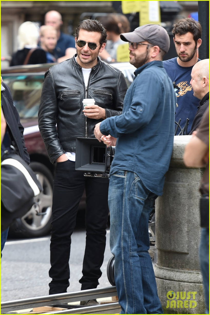 bradley cooper flashes mega watt smile on set 24