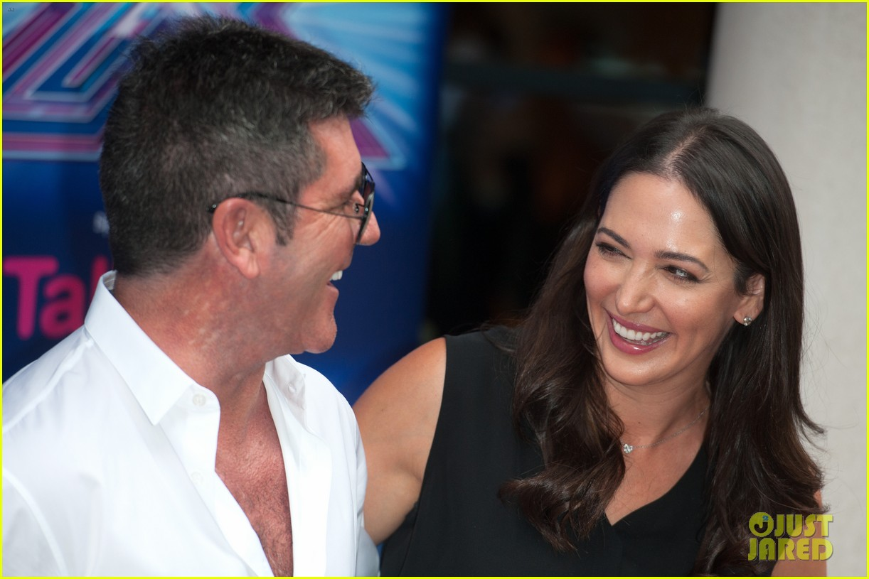 simon cowell girlfriend lauren silverman show some affection at x factor uk 08