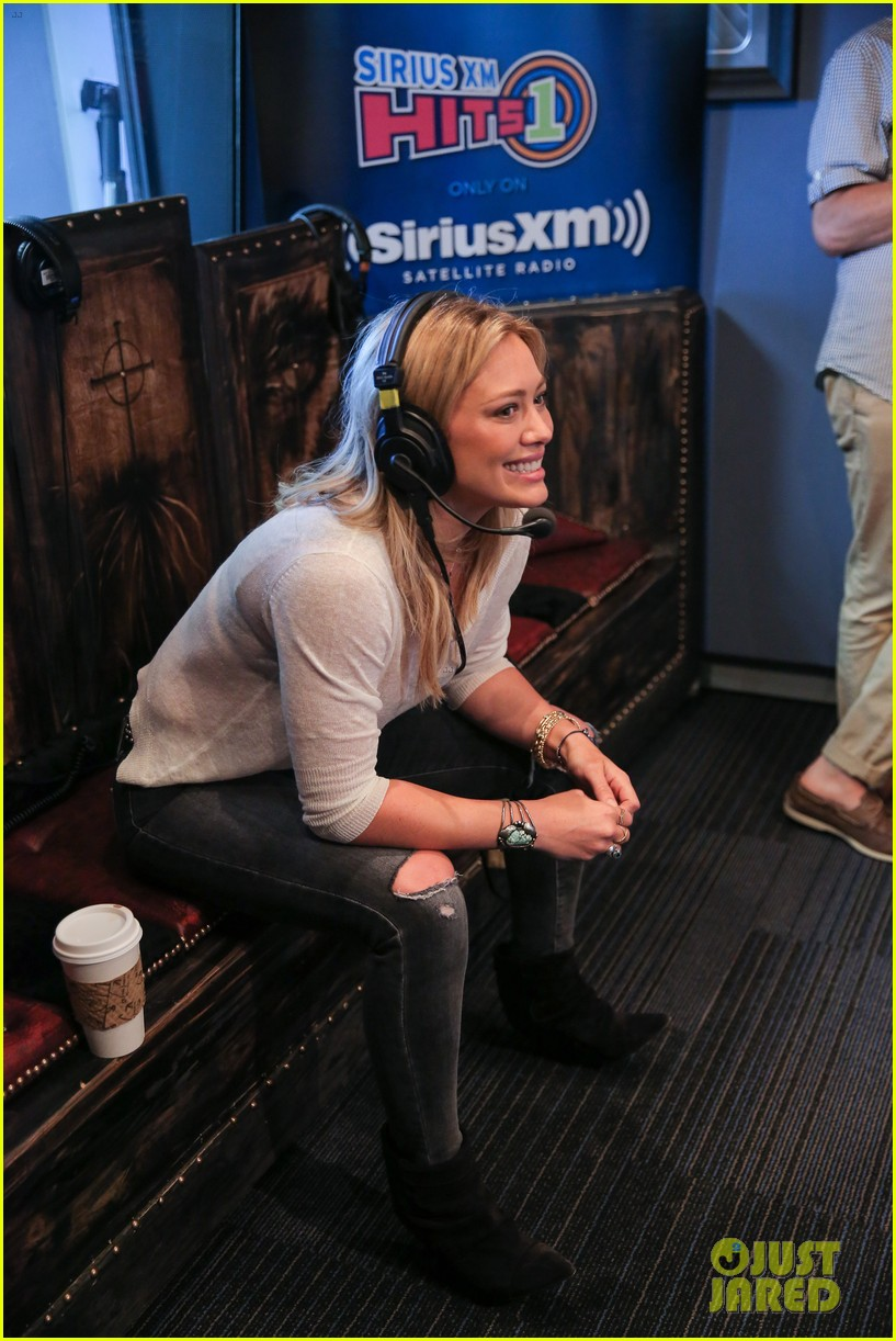 hilary duff promotes new single all about you at siriusxm 16