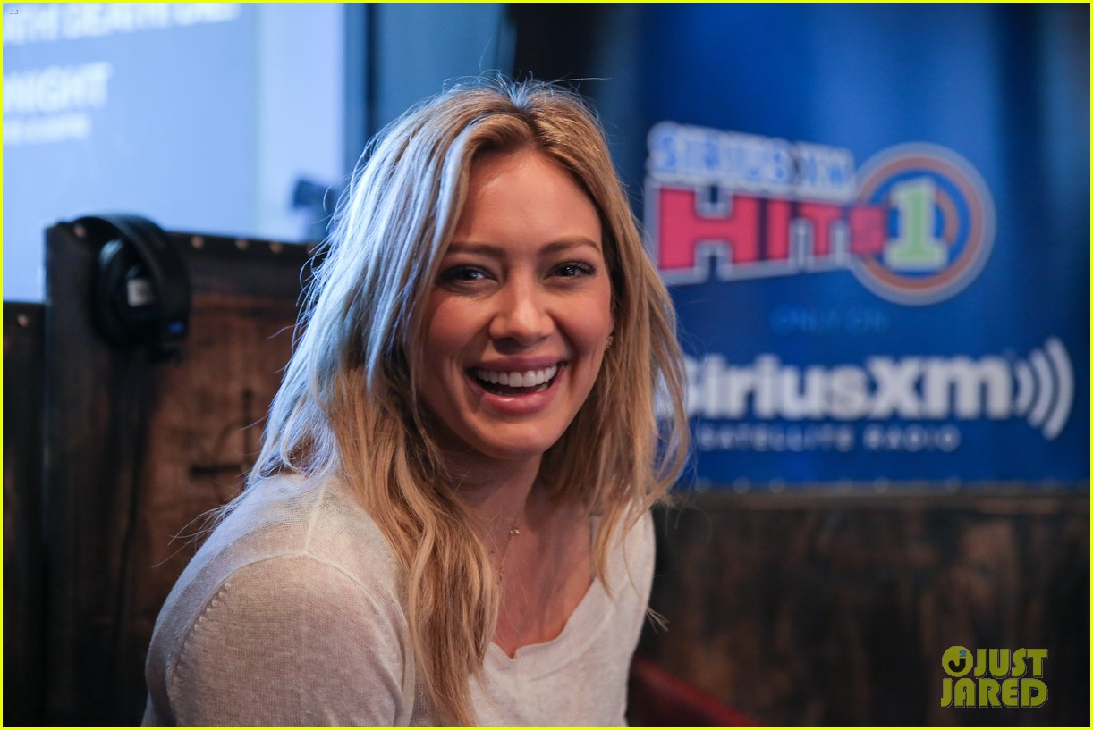 hilary duff promotes new single all about you at siriusxm 17