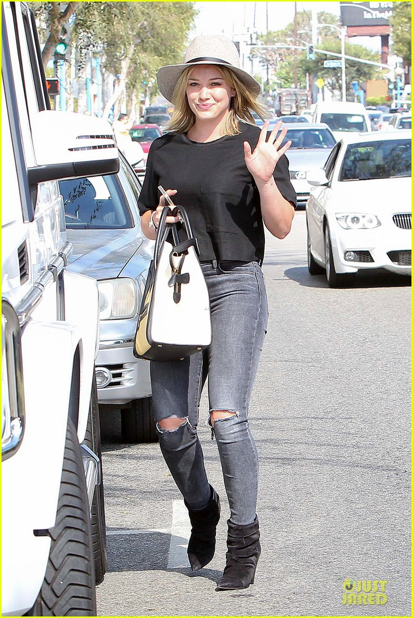 hilary duff looks happy after all about you lyric video drops 19
