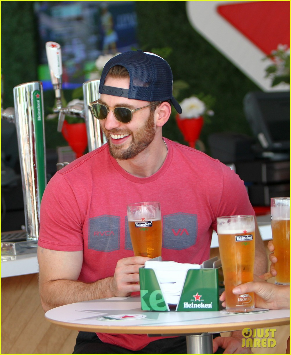 chris evans us open heineken house 023184884