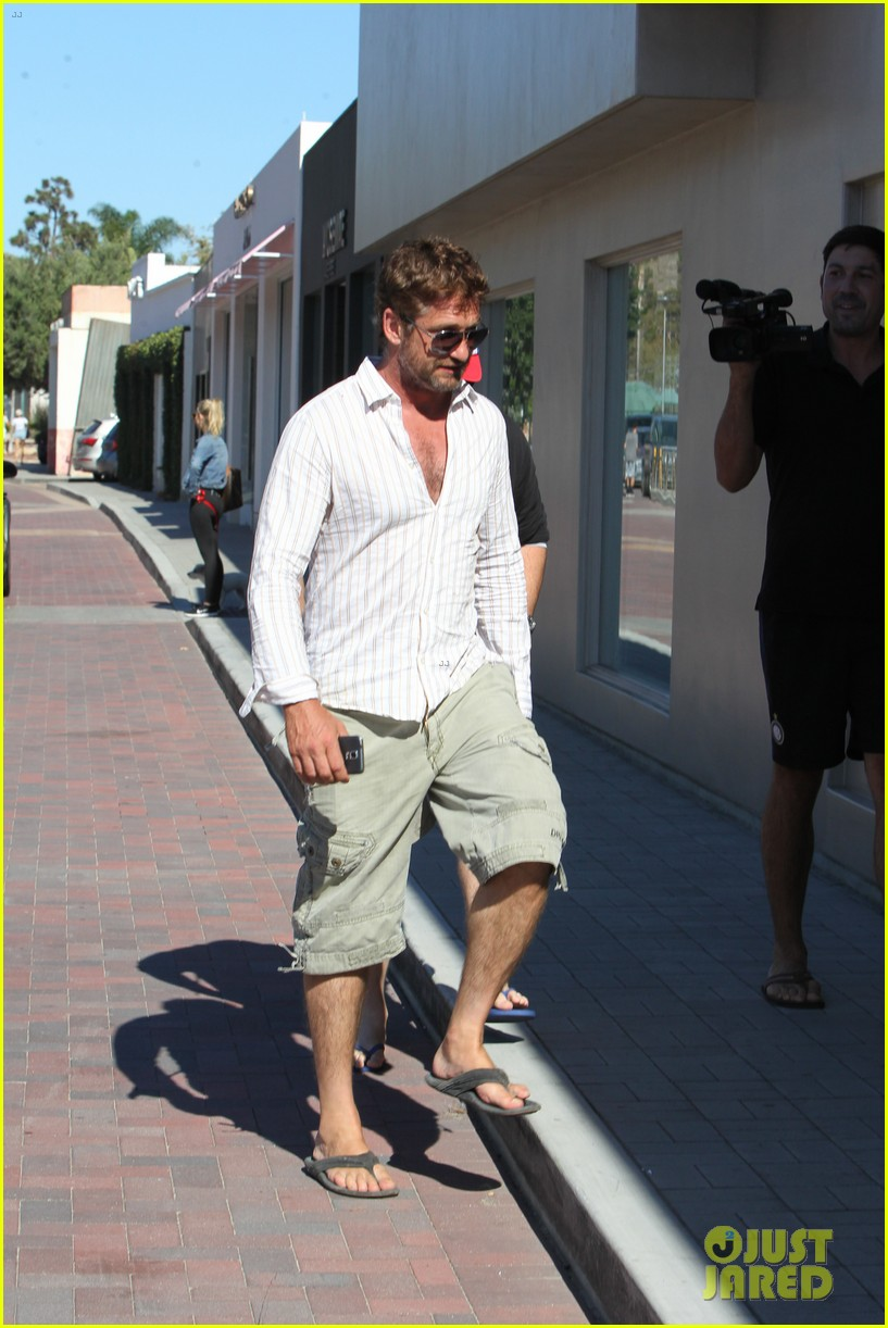gerard butler chest hair shopping malibu 163177934