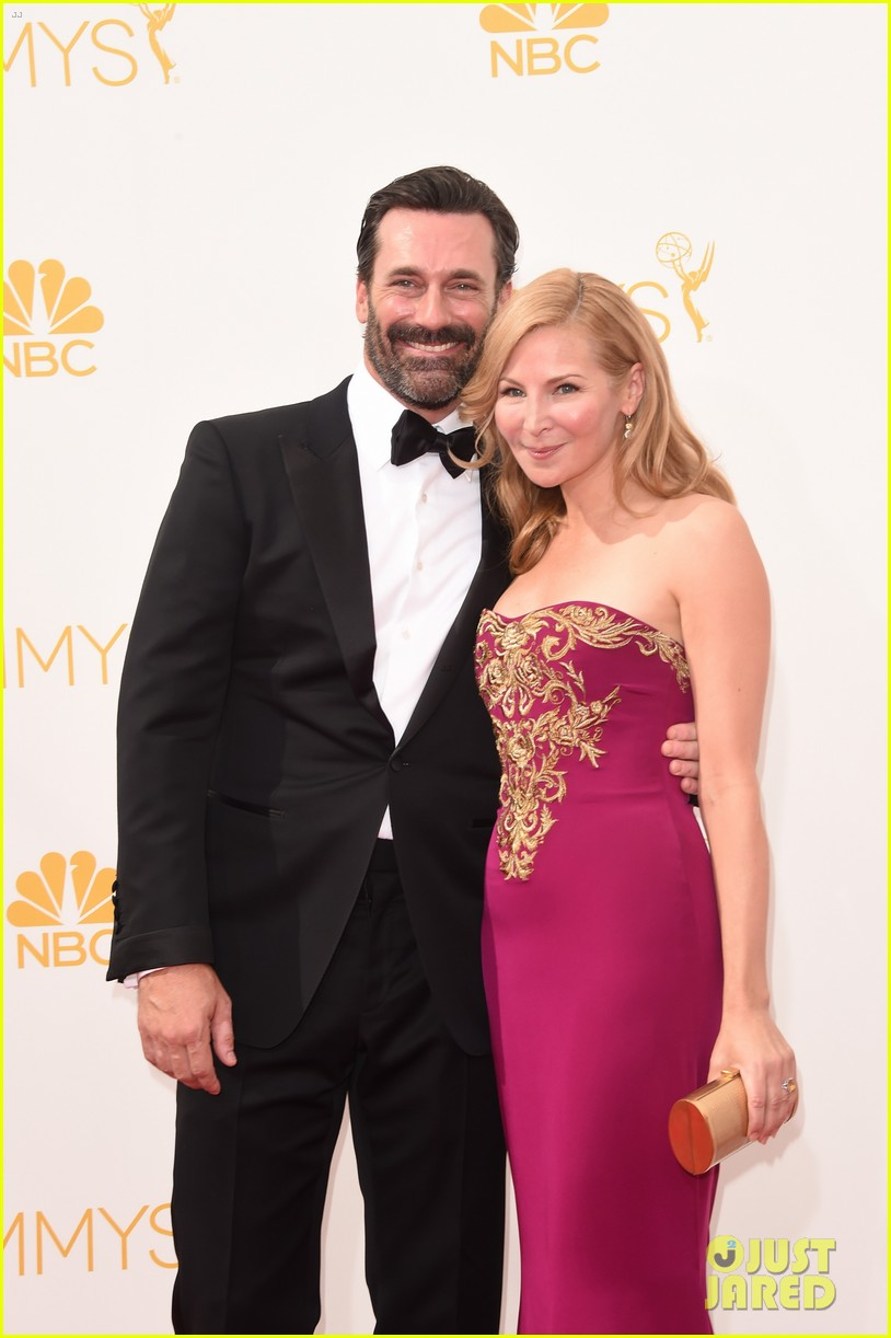 jon hamm jennifer westfeldt loving pair at emmys 2014 043183383