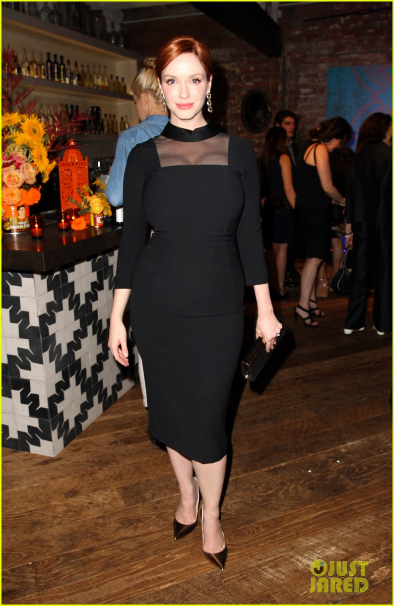christina hendricks michelle monaghan variety emmys party 15