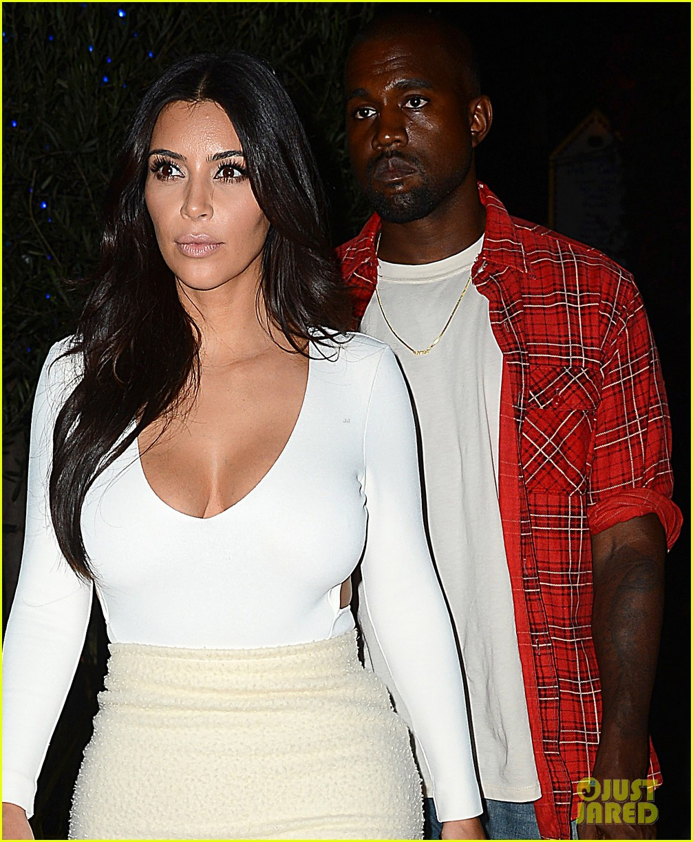 kim kardashian kanye west step out for date night 043185321