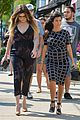 kim kardashian shows midriff in sexy dress at dinner 19