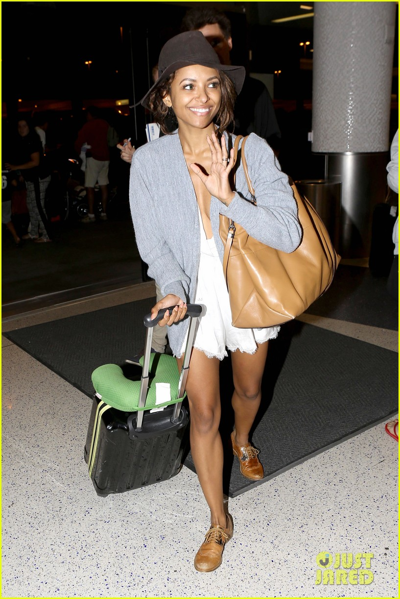 kat graham ice bucket lax arrival 083179177