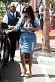 kim kardashian does double denim lots of cleavage on family outing 08