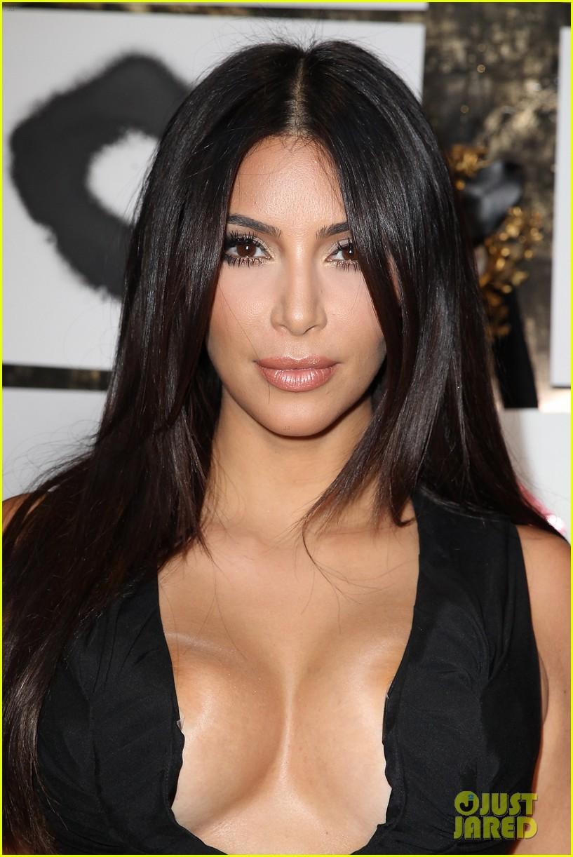 kim kardashian rocks super sexy revealing black jumpsuit 043180029