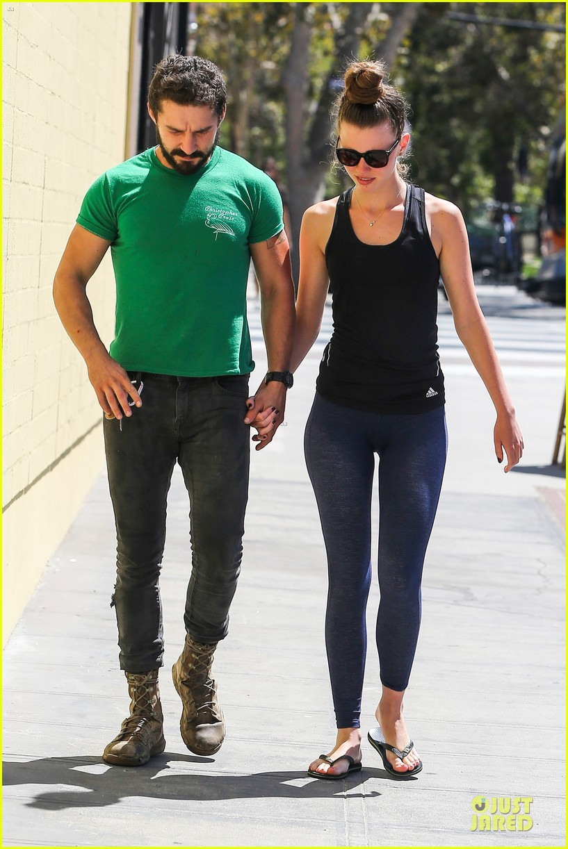 shia labeouf mia goth enjoy lunch date at granville 10