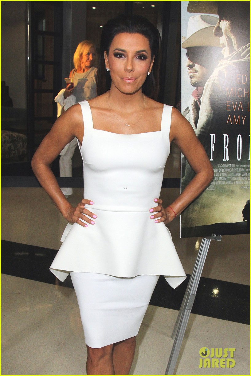eva longoria is the lady in white at frontera l a premiere 01