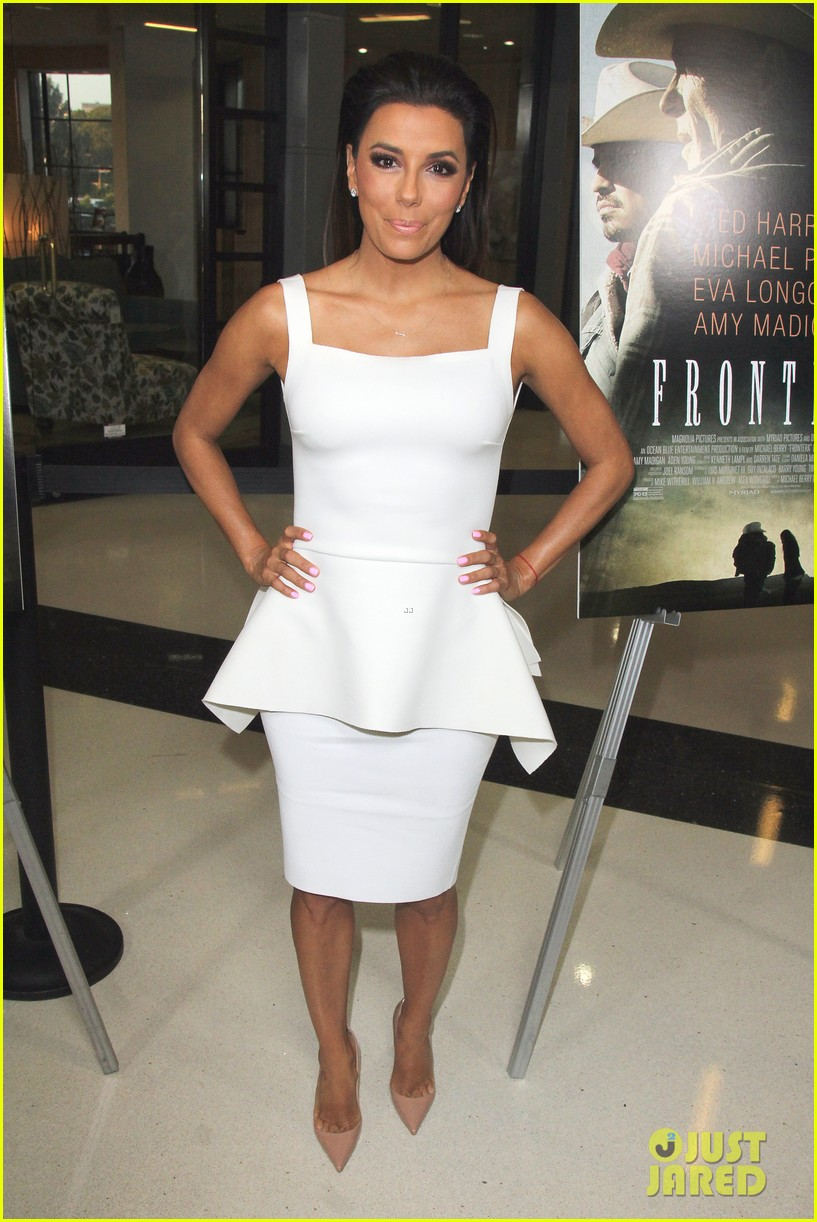 eva longoria is the lady in white at frontera l a premiere 09