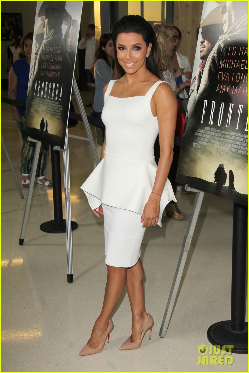 eva longoria is the lady in white at frontera l a premiere 10