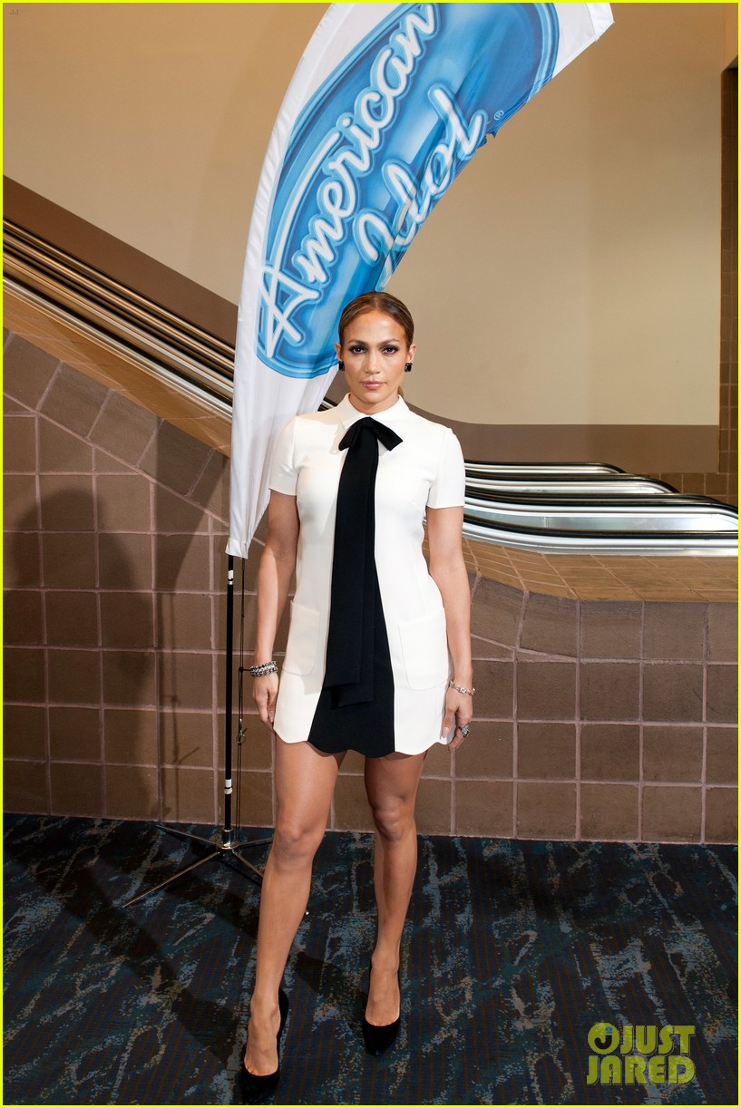 Jennifer Lopez White Dress American Idol 2015