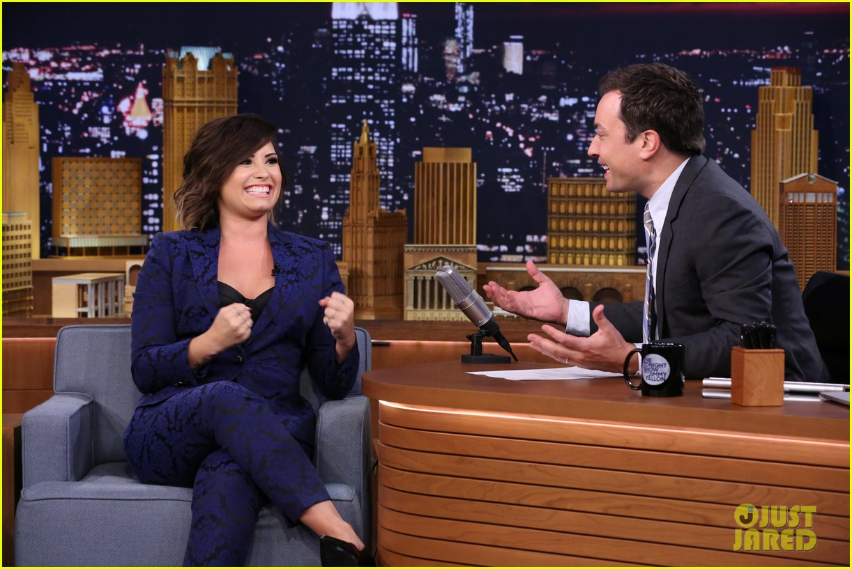 demi lovato tonight show jimmy fallon advice unqualified 053177354