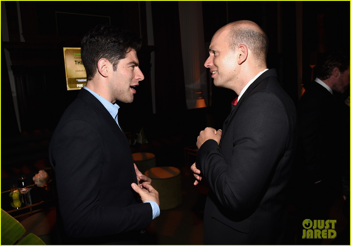 new girls max greenfield brings wife tess sanchez to emmys 2014 after party 05