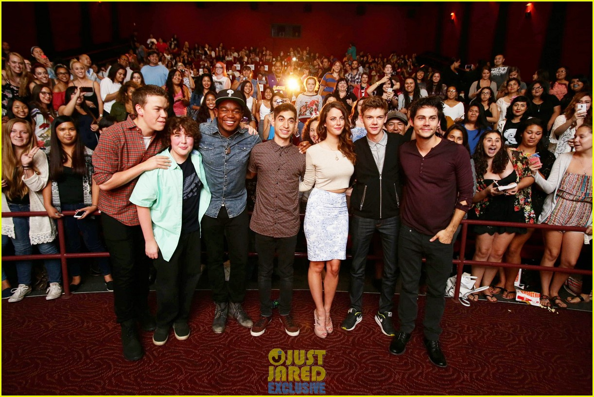 dylan obrien maze runner justjared screening 22