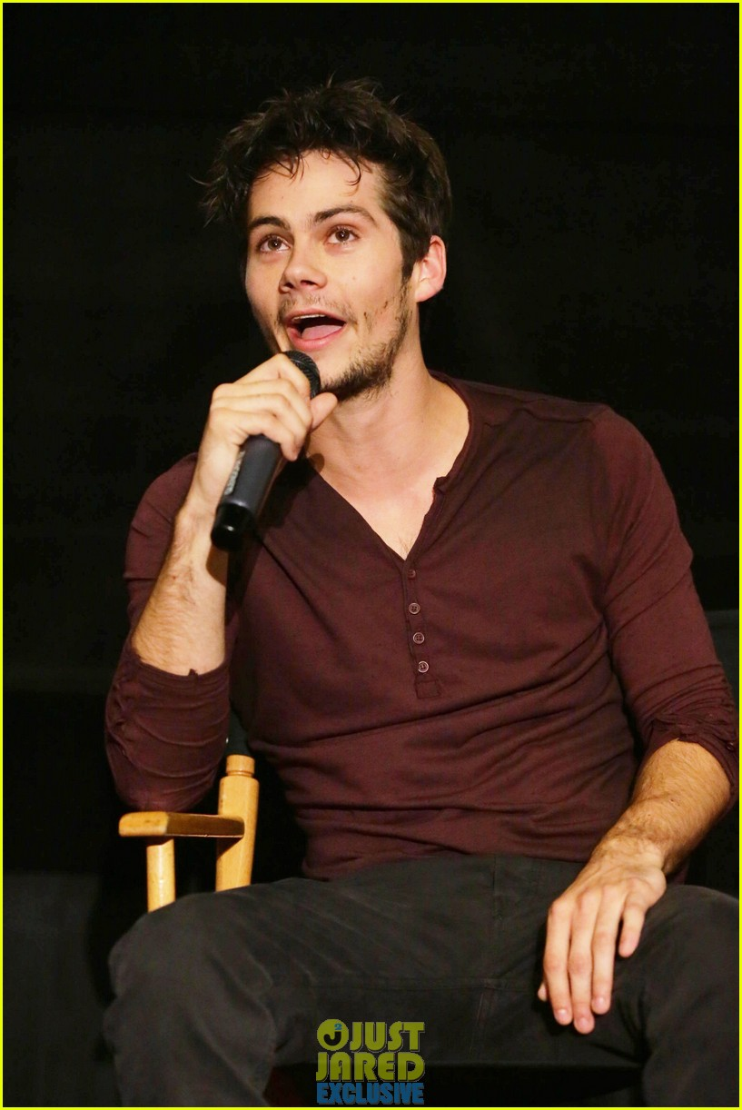 dylan obrien maze runner justjared screening 29