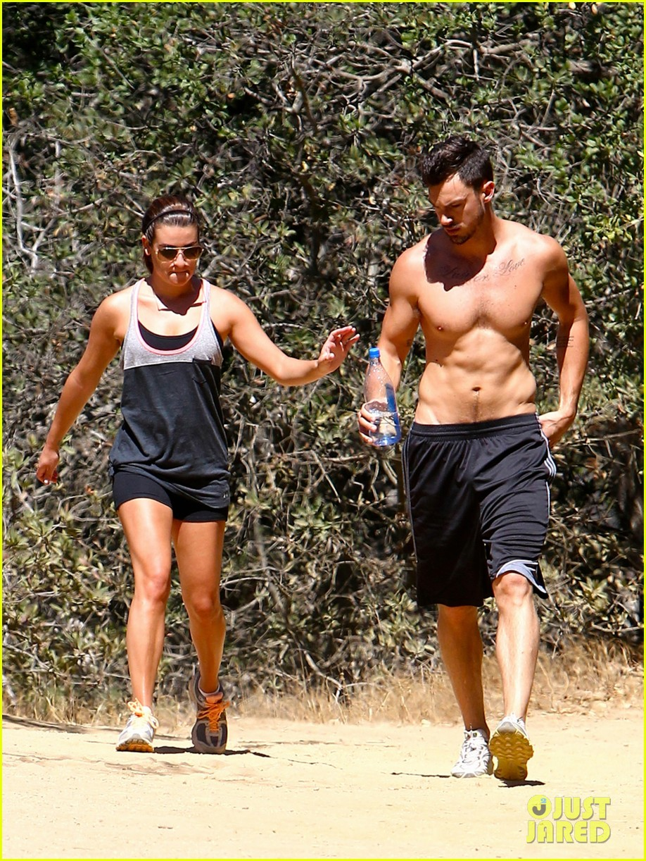 lea michele boyfriend matthew paetz goes shirtless hike 183181841