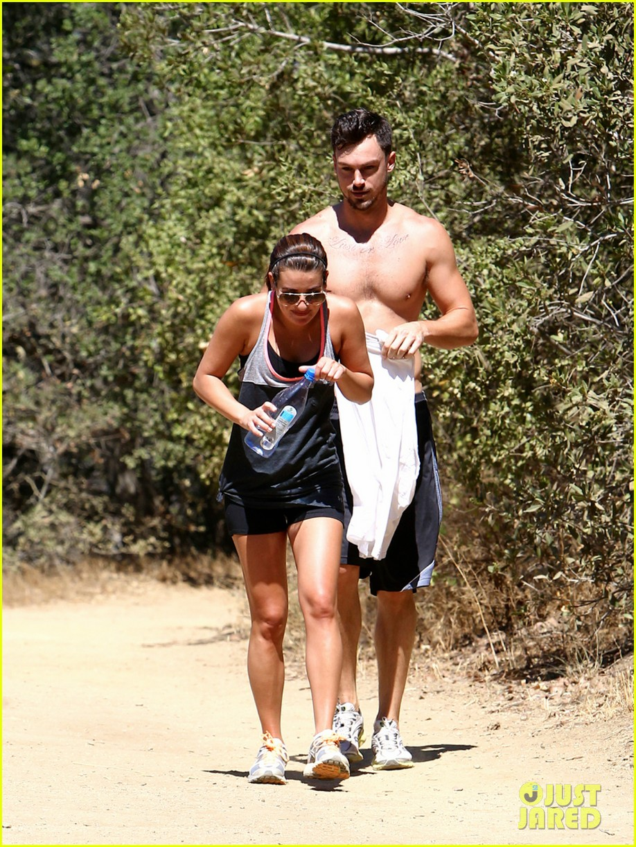 lea michele boyfriend matthew paetz goes shirtless hike 203181843