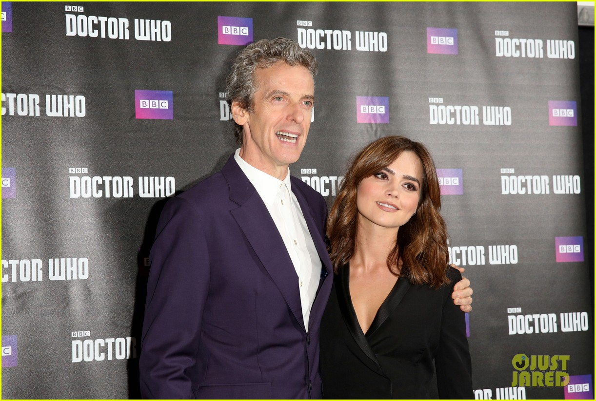 jenna coleman peter capaldi dr who london last premiere 05
