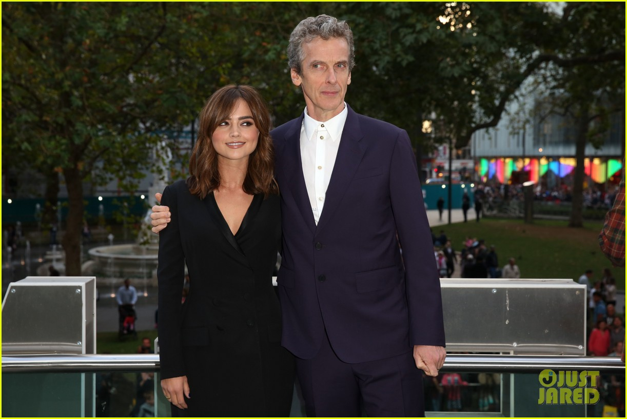 jenna coleman peter capaldi dr who london last premiere 113181693