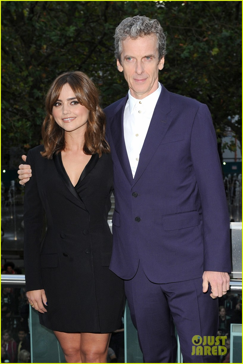 jenna coleman peter capaldi dr who london last premiere 19