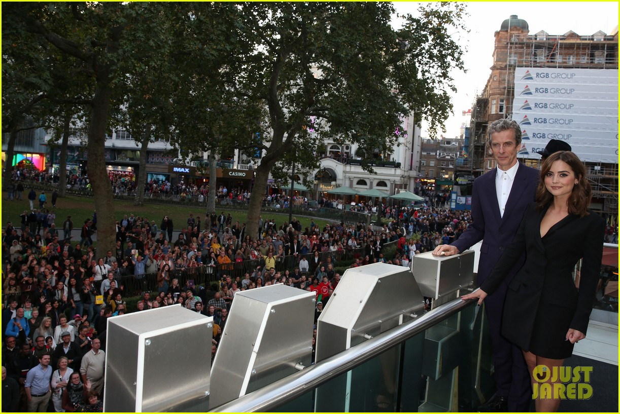 jenna coleman peter capaldi dr who london last premiere 20
