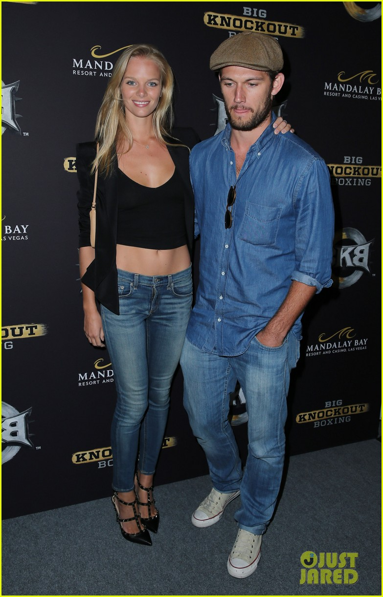 alex pettyfer marloes horst first red carpet appearance 16