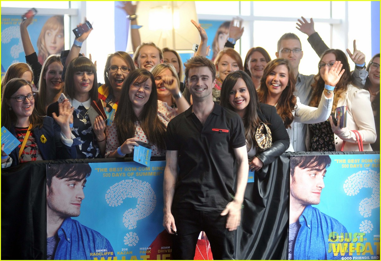 daniel radcliffe pose with fans what if dublin ireland 183177407