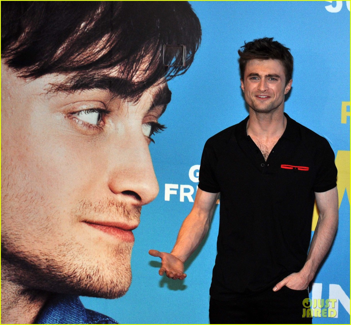 daniel radcliffe pose with fans what if dublin ireland 22