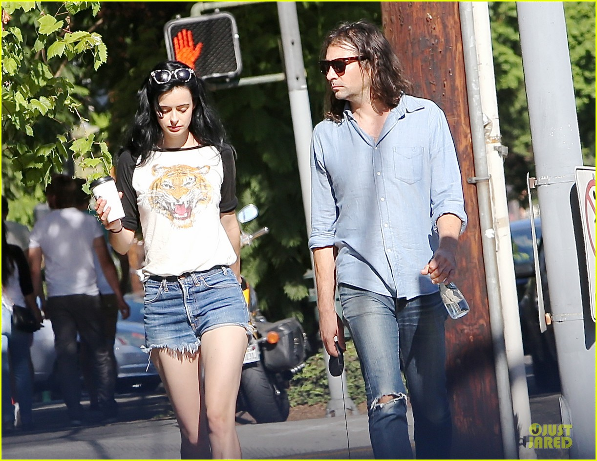krysten ritter adam granduciel keep distance on stroll 05
