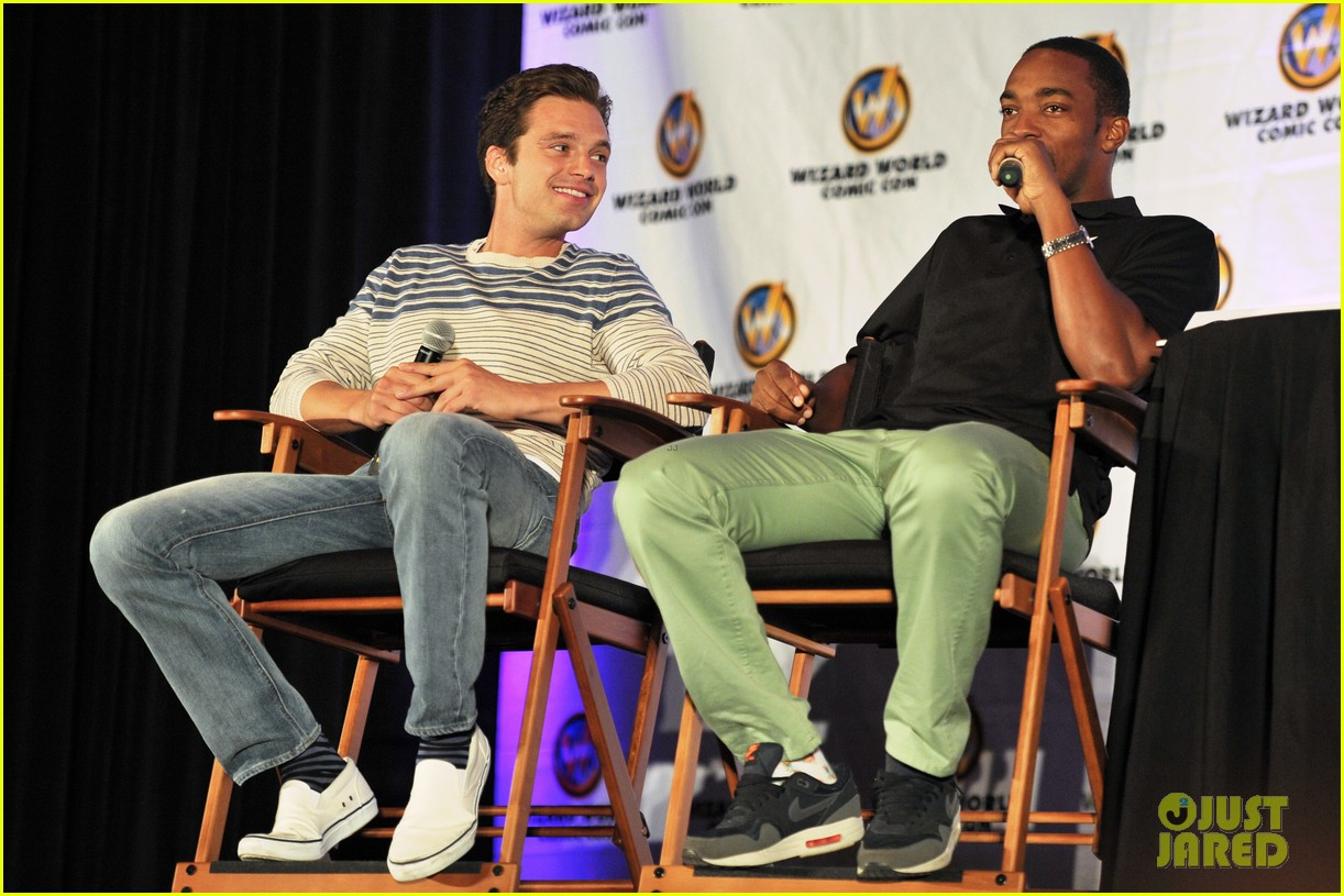 sebastian stan anthony mackie attend wizard world chicago comic con 07