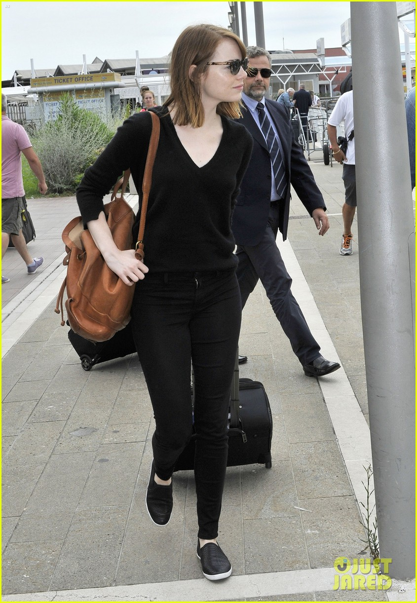 emma stone arrives for venice film festival for birdman opening 083184202