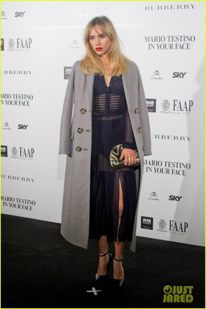 suki waterhouse goes totally sheer for mario testino event 053185915