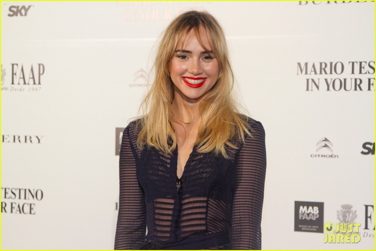 suki waterhouse goes totally sheer for mario testino event 063185916