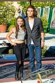 paul wesley fatima ptacek venice kick off party photo call 03