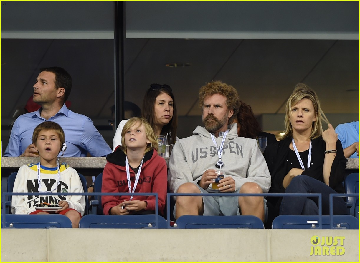 will ferrell busy beard family us open 033186681