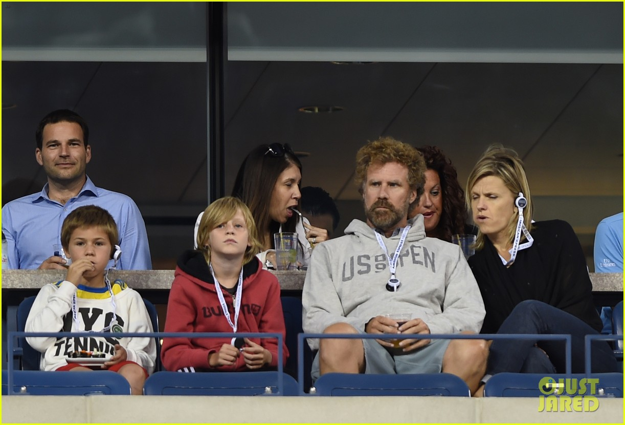 will ferrell busy beard family us open 13