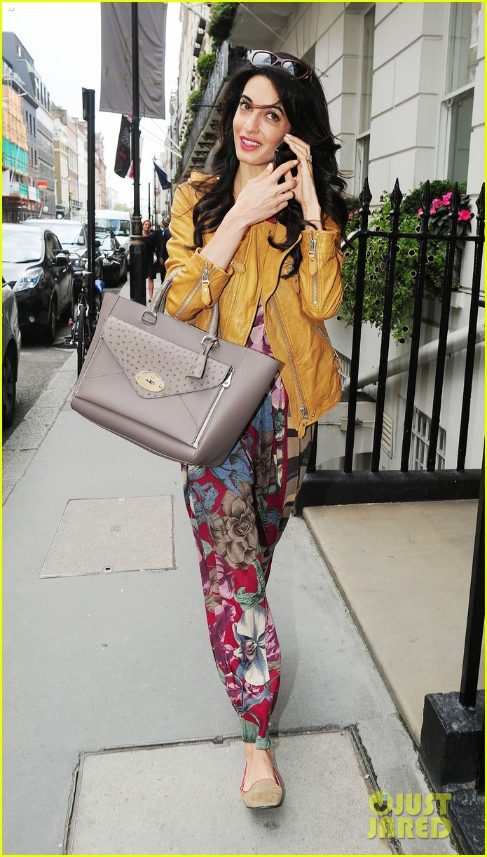 amal alamuddin goes for a fitting at alexander mcqueen 213189381