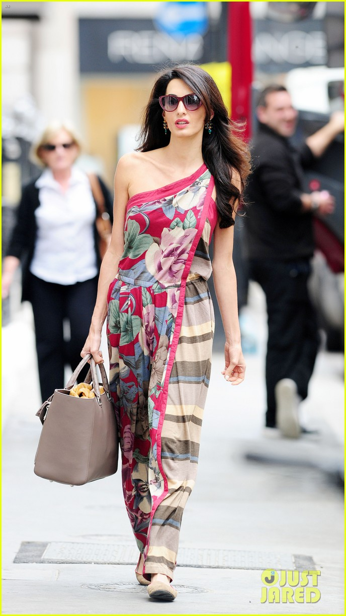 amal alamuddin goes for a fitting at alexander mcqueen 22