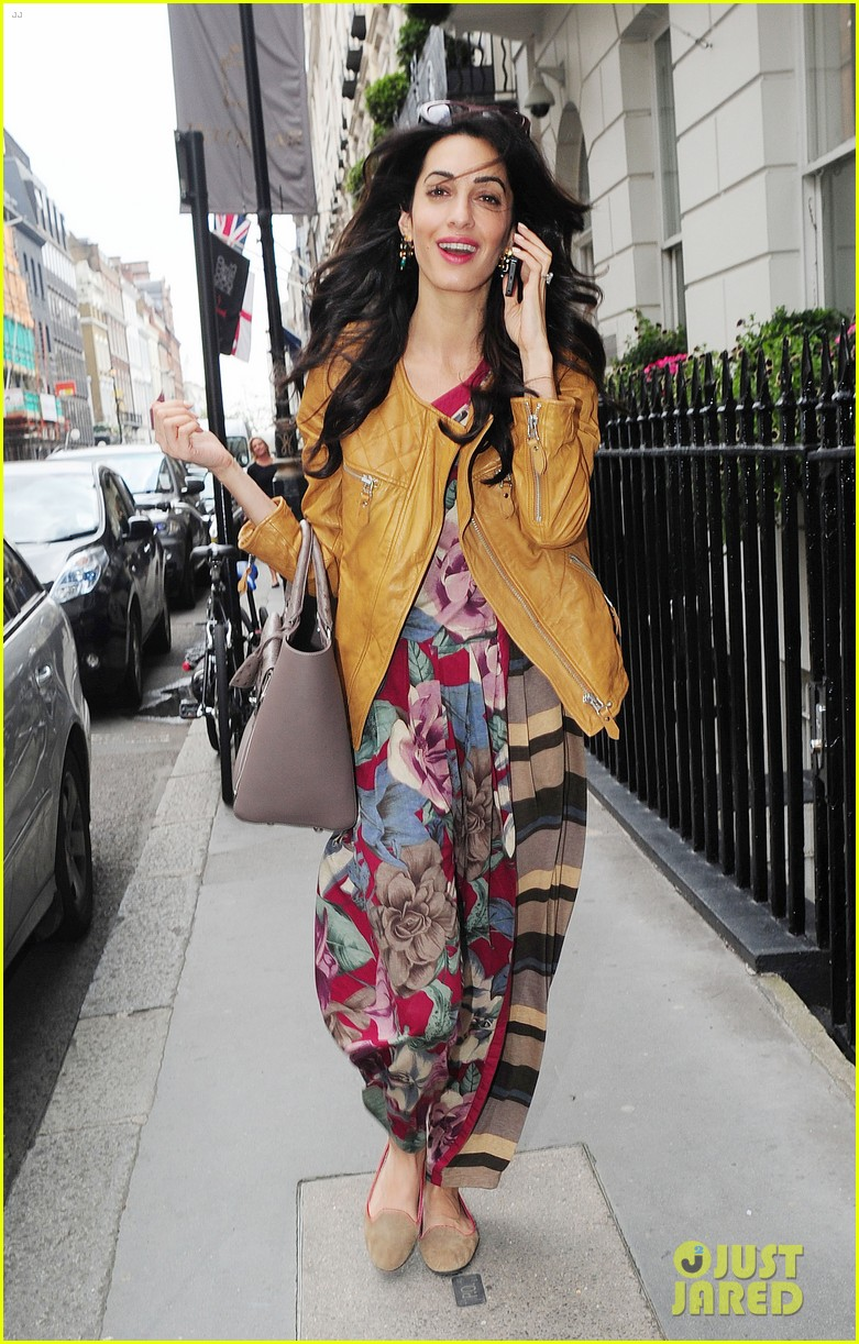 amal alamuddin goes for a fitting at alexander mcqueen 28