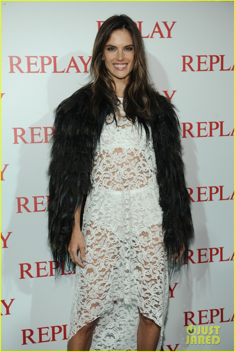 alessandra ambrosio fashion replay during milan fashion week 113201088