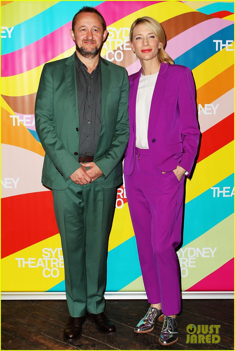 cate blanchett wears bright purple pantsuit sydney theater company 023189043