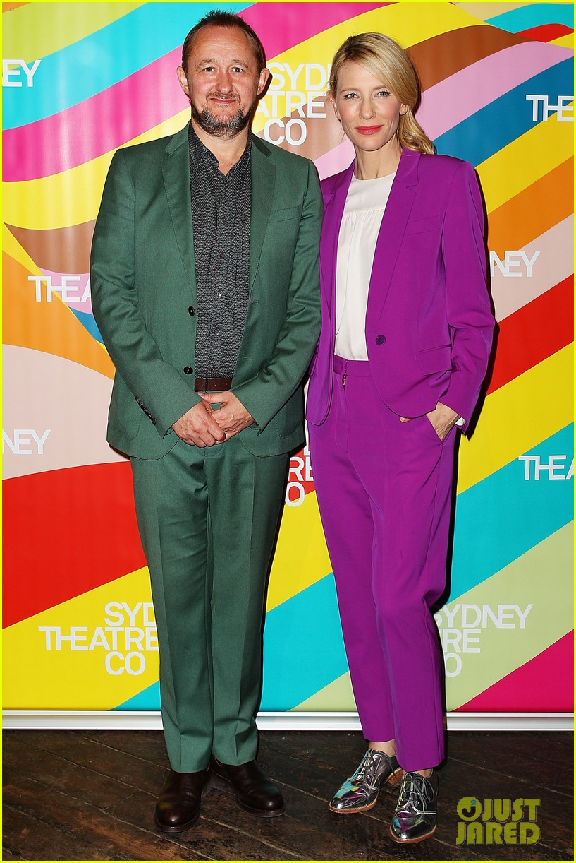 cate blanchett wears bright purple pantsuit sydney theater company 05